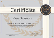 Certifikat av mallen för prestationramdesign Royaltyfri Bild