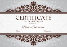 Certifikat av prestationen Arkivfoto