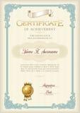 Certifikat av prestationtappningramen Stående Royaltyfri Bild