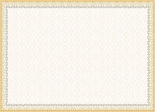 Certifikat diplom för tryck Royaltyfri Bild