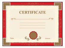 Certifikat diplom för tryckvektor Royaltyfria Bilder