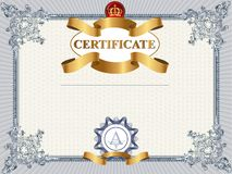 Certifikat- eller kupongmall Royaltyfri Bild