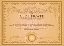 Certifikat- eller kupongmall Arkivfoto