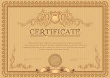Certifikat- eller kupongmall Arkivbild