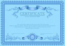 Certifikat- eller kupongmall Royaltyfri Foto