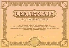 Certifikat- eller kupongmall Fotografering för Bildbyråer