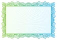 Certifikat. Vektormodellvaluta och diplom Arkivbilder
