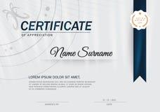 Certifikatdesignmall Royaltyfri Bild