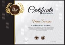 Certifikatdesignmall Royaltyfri Foto