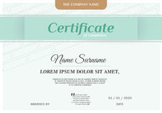 Certifikatdesignmall Arkivbilder