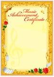 Certifikatdesignmall Arkivbild