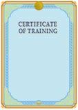 Certifikatdesignmall Arkivfoto