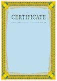 Certifikatdesignmall Royaltyfri Fotografi
