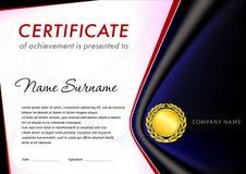 Certifikatdesignmall Royaltyfria Foton