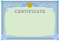 Certifikatdesignmall Arkivfoton