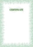 certifikatdiplom för kant a4 Royaltyfria Foton
