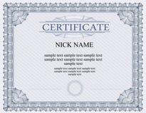 Certifikatdiplom för tryck Royaltyfria Bilder