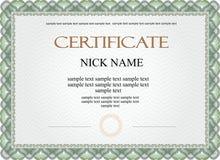 Certifikatdiplom för tryck Royaltyfri Bild