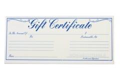 certifikatgåva royaltyfri bild