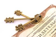certifikatgodset keys verkligt Royaltyfria Foton