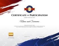Certifikatmall i rugbysporttema med gränsramen, dopp stock illustrationer
