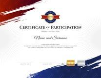 Certifikatmall i rugbysporttema med gränsramen, dopp vektor illustrationer