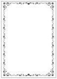 Certifikatmall med guillochebeståndsdelar Arkivbilder