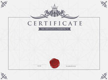 Certifikatmall och beståndsdel vektor illustrationer