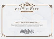 Certifikatmall och beståndsdel Arkivbild