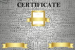 Certifique la plantilla con el modelo de lujo y moderno, diploma Ilustraci?n del vector fotos de archivo libres de regalías