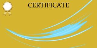 Certifique la plantilla con el modelo de lujo y moderno, diploma Ilustraci?n del vector stock de ilustración