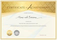 Certifique la plantilla para el logro, aprecio, realización o stock de ilustración