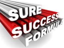 Certo fórmula do sucesso Foto de Stock