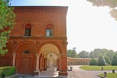 Certosa -费拉拉,意大利巨大的公墓  免版税库存照片