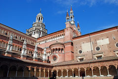 The Certosa di Pavia or Charterhouse of Pavia. (built c. 1396-1465) is a famous monastery complex in Lombardy, Italy Royalty Free Stock Photography