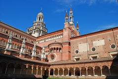 The Certosa di Pavia or Charterhouse of Pavia. (built c. 1396-1465) is a famous monastery complex in Lombardy, Italy Royalty Free Stock Photos