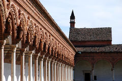 The Certosa di Pavia or Charterhouse of Pavia. (built c. 1396-1465) is a famous monastery complex in Lombardy, Italy Stock Image