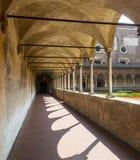 Certosa di Pavia, cloister Royalty Free Stock Photography