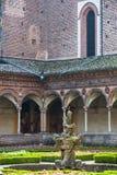 Certosa di Pavia, cloister Stock Images