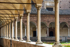 Certosa di Pavia, cloister Royalty Free Stock Photography
