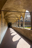 Certosa di Pavia, cloister Stock Photos