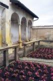 Certosa di Pavia, inre detalj moder två för färgdotterbild Royaltyfri Bild
