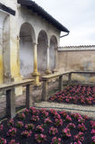 Certosa di Pavia, internal detail. Color image royalty free stock image