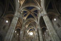 Certosa di Pavia (Italien), kyrklig inre Arkivbilder