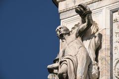 Certosa di Pavia Włochy, historyczny kościół Zdjęcie Royalty Free