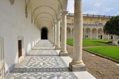 Certosa di San Martino, Naples - Napoli, Italy. Inner cloister Royalty Free Stock Image