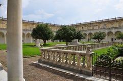 Certosa di San Martino, Neapel - Napoli, Italien Inneres Kloster stockbild