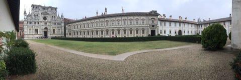 Certosa Pavia arkivbilder