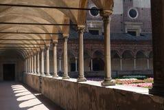 Certosa of Pavia, cloister Stock Photos
