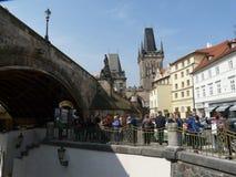 Certovka i Prague Royaltyfri Bild